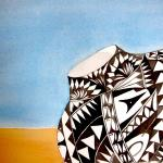 © 2020 Dominique Bachelet | Memory of Acoma | Watercolor
