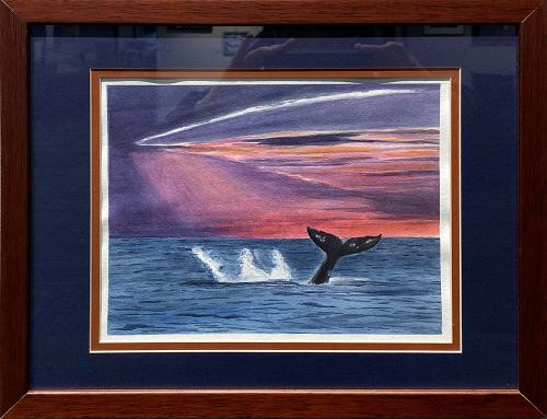 Aurae Beidler, Gray Whale Tail, Watercolor, $105