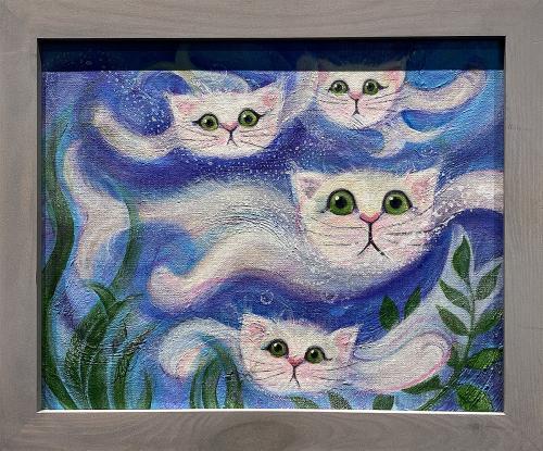 Brynn Carter, Cat Fish, Acrylic, $150