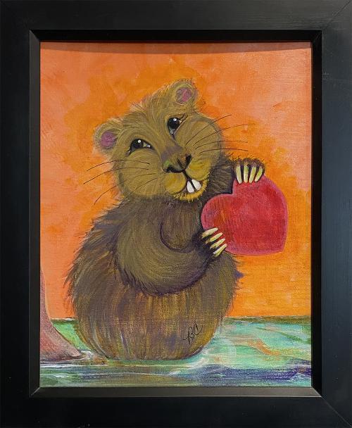 Brynn Carter, Love a Beaver, Acrylic, $150