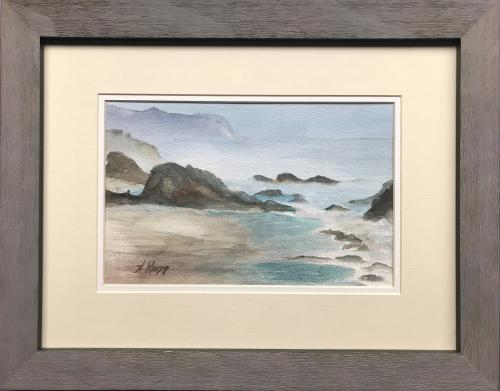 Helen Kropp, Beach at Seal Rock, Watercolor, $260