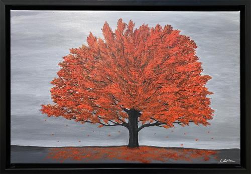 Cindy Lefton, Autumn Splendor, Acrylic, $175