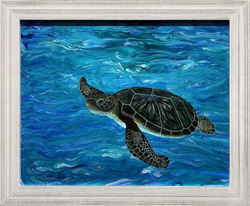 Cindy Lefton, Dreaming of Kauai, Mixed Media, $175