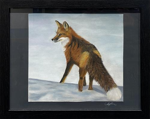 Cindy Lefton, Solstice Fox, Pastel, $75