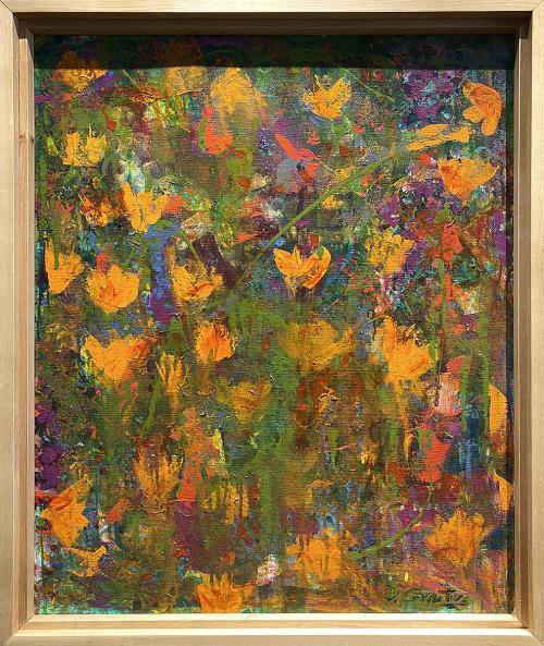 Debbe Cornitius, Poppies, Acrylic, $425