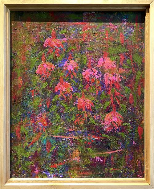 Debbe Cornitius, Fuchsias, Acrylic, $400
