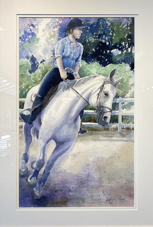 Doyle Leek, Abby on Sarah Rose, Watercolor, $450