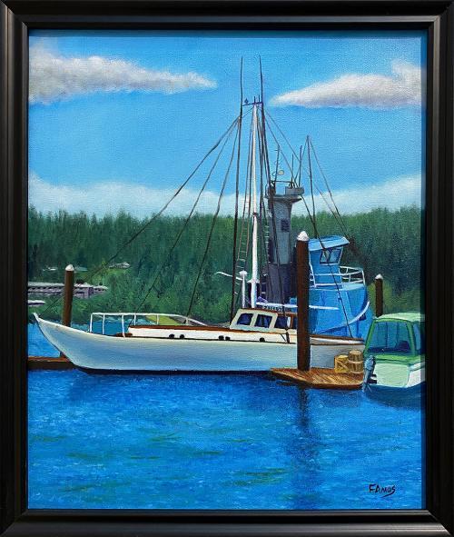 Fred Amos, Port of Siuslaw Oregon, Oil, $300