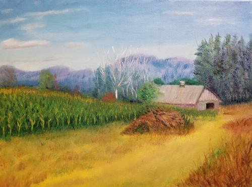 Davis Family Farms Corn Field by Fred Amos