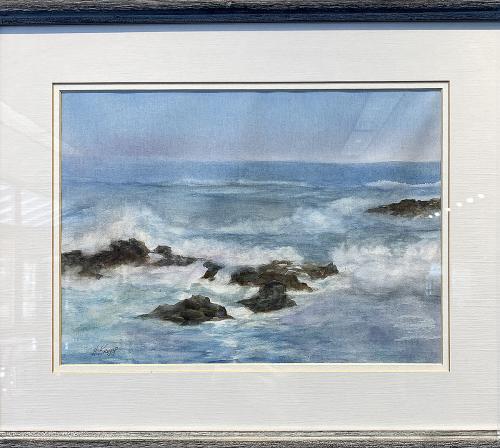 Helen Kropp, Morning Surf, Watercolor, $325