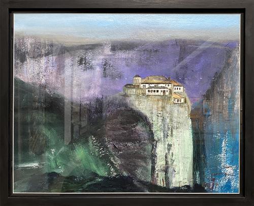 Jeff Gunn, Hidden Monastery, Acrylic, $250