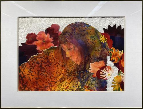 Karen Kreamer, Daydream, Watermedia Collage, $650