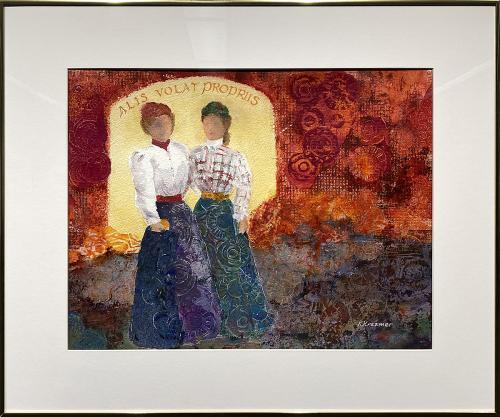Karen Kreamer, She Flies With Her Own Wings (OAC 1898), Mixed Media, $425