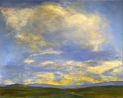 Laura Crosby, Cloud Edict, Acrylic, $350