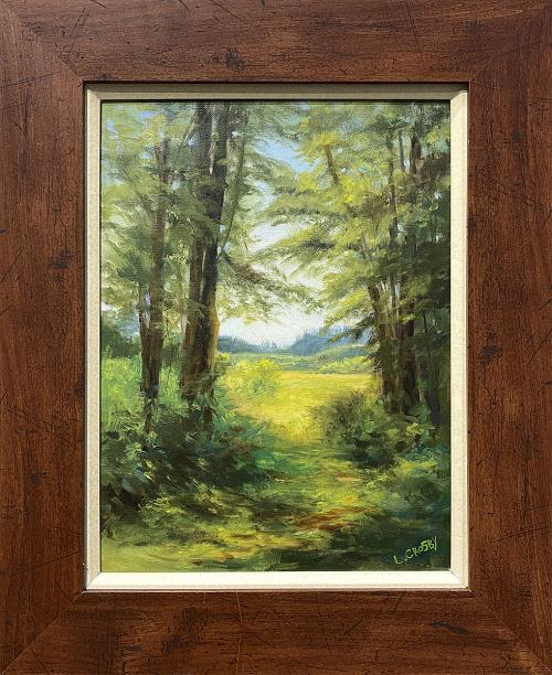 Laura Crosby, Looking Out is Looking In, Oil, $195