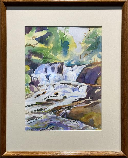Linda J. Edwards, Alsea Falls, Watercolor, $280