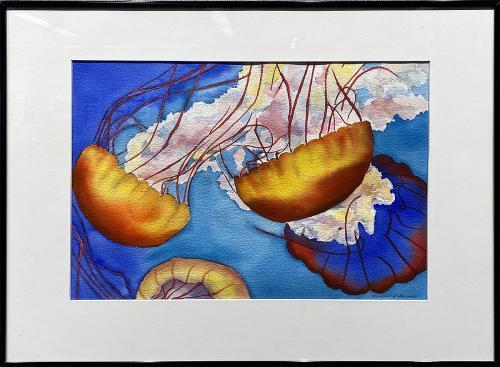 Linda J. Edwards, Pacific Sea Nettles Jellyfish #2, Watercolor, $395