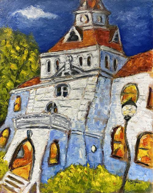 Mike Bergen, Benton County Courthouse, Oil, $395