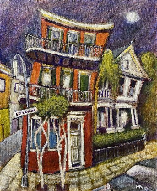 Mike Bergen, Esplanade, New Orleans, Oil, $395