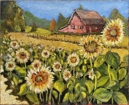 Mike Bergen, Sunflower Delight, Oil, $295