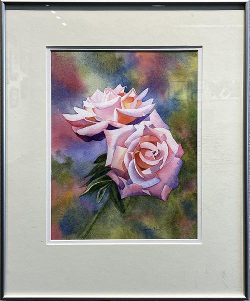 Marjorie Kinch, Two Sisters -- Roses, Watercolor, $325
