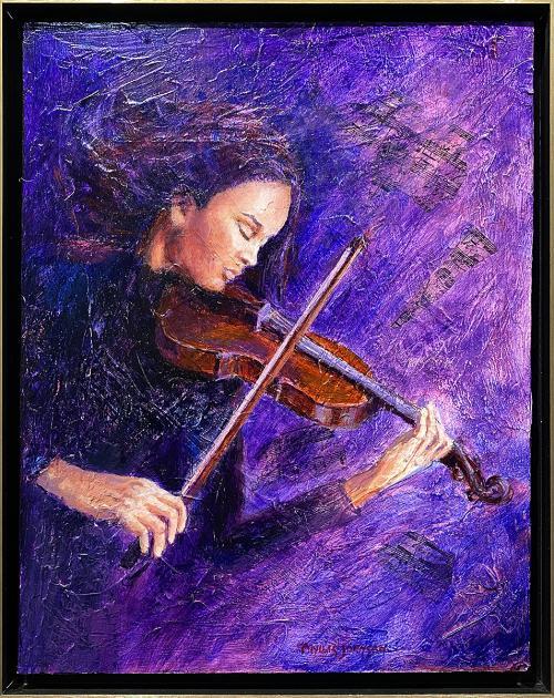 Phyllis Johnson, Nocturne, Acrylic, $400