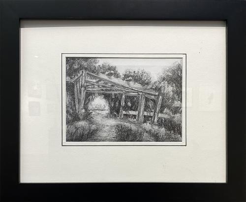 Richard Badham, Quiet Arbor at Dancing Oaks, Pencil, $145