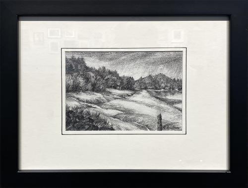 Richard Badham, Yaquina Mud Flats, Pencil, $145