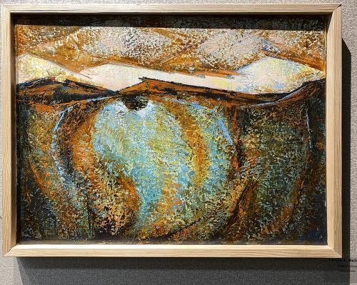 Rhoda Fleischman , Horizon 4 - Wellspring, Oil in Cold Wax, $280