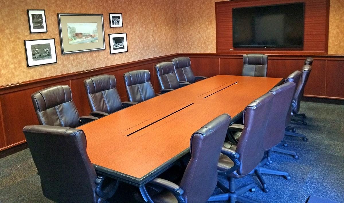 Weyerhaeuser Boardroom looking toward monitor